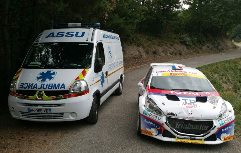 Ambulance volpe sur rally